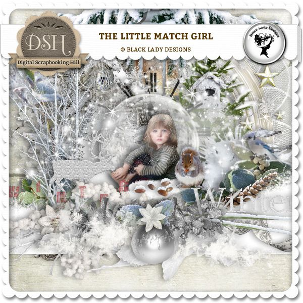 The Little Match Girl by Black Lady Designs : DSH: Digital Scrapbooking Hill - high quality CU and PU elements, exclusive products, kits, freebies and more...