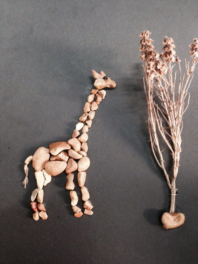 DIY Pebble art (gülen)giraffe