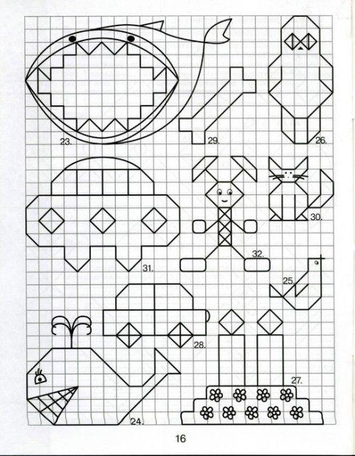 graphic dictation Графические диктанты для дошкольников