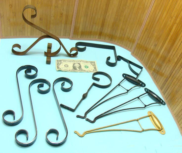Vintage Hook Lot Old Metal Hooks Bundle Plant Hooks Hanging Basket Hooks