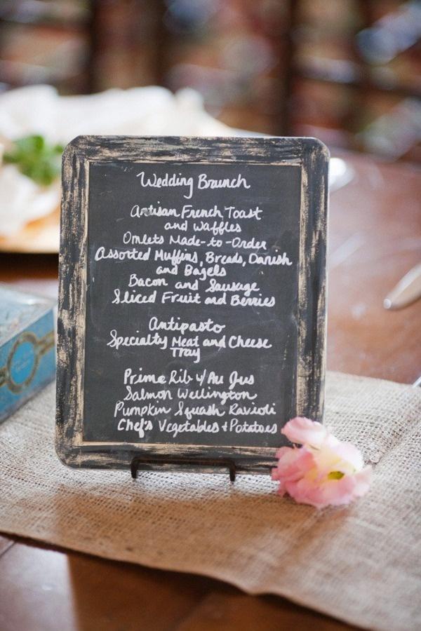 Wedding Brunch Menu