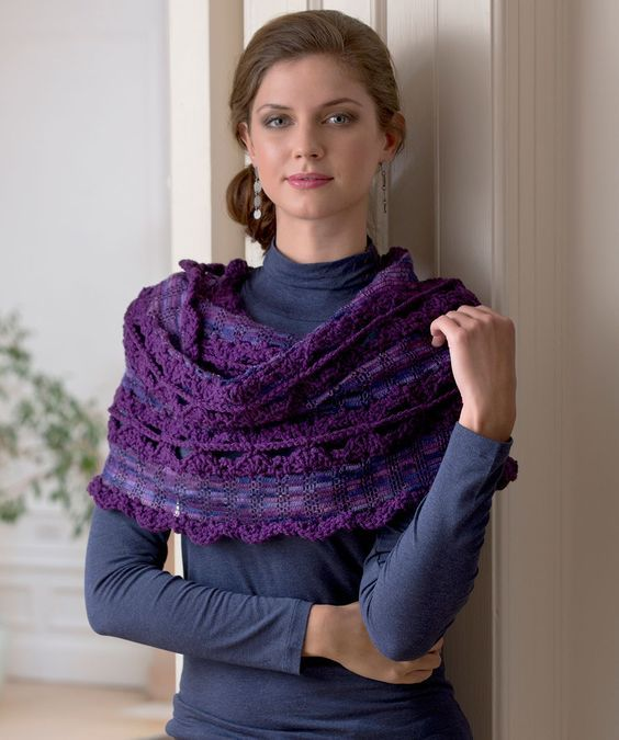 Free Wrap and Go Shawl - crochet pattern: