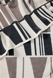Klippan Geometry Organic Cotton Chenille Blanket designed by Bengt & Lotta for Klippan, Sweden