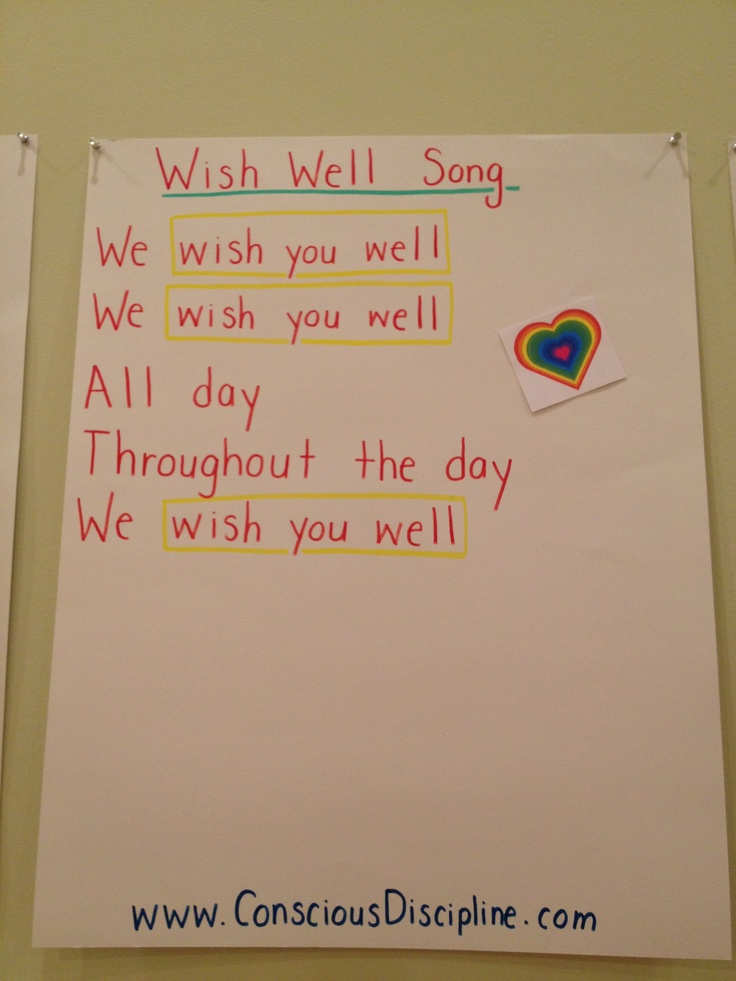 Wish Well Song #i♥CD | Conscious discipline | Pinterest ...