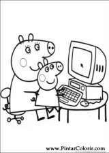 Pintar e Colorir Peppa Pig - Desenho 010