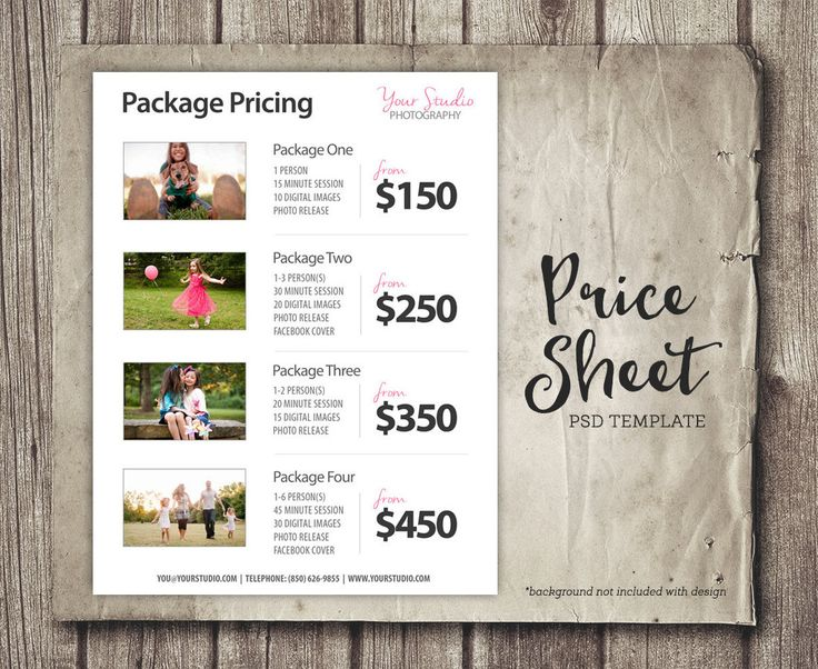 The 25+ best Photography price list ideas on Pinterest - price list templates