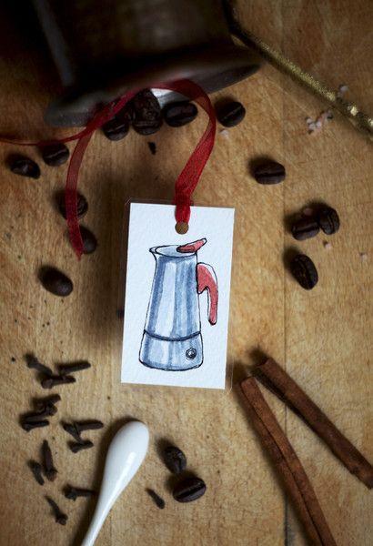Coffee Addict - Zakładka ręcznie malowana - virydi_art - Zakładki do książek z papieru