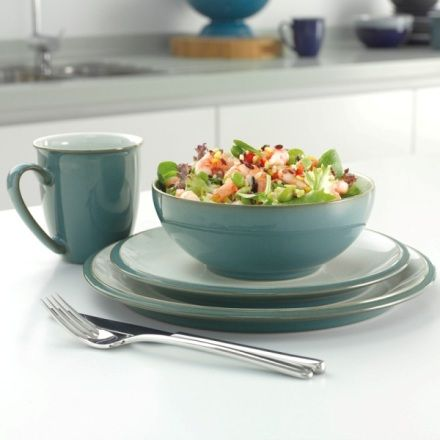 Everyday Teal 4 Piece Dinner Set at Denby