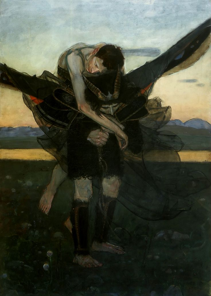 For the new life, a wing of a triptych by Wlastimil Hofman, 1909, Muzeum Śląskie w Katowicach