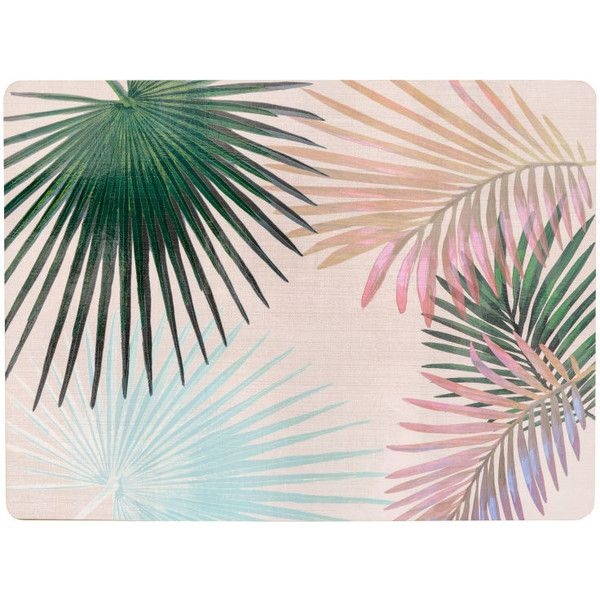 Leaf-patterned Placemat $9.99 ($9.99) ❤ liked on Polyvore featuring home, kitchen & dining and table linens