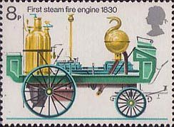 Fire Service 8p Stamp (1974) First Steam Fire-engine, 1830