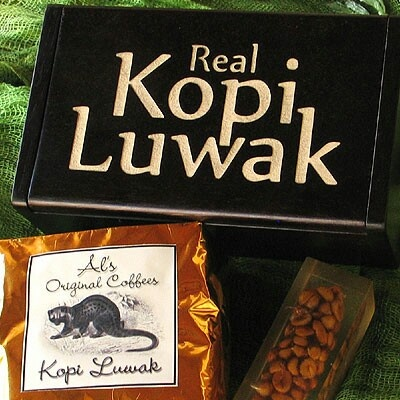 Luwak~civet cat coffee...the most delicious n expensive coffee in the world....the Indonesia heritage. It s proccessed from Luwak's droppings
