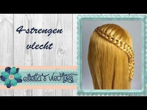 ▶ uitleg 4-strengen vlecht - YouTube #hairstyle #hair #haar #braid #vlecht #tutorial