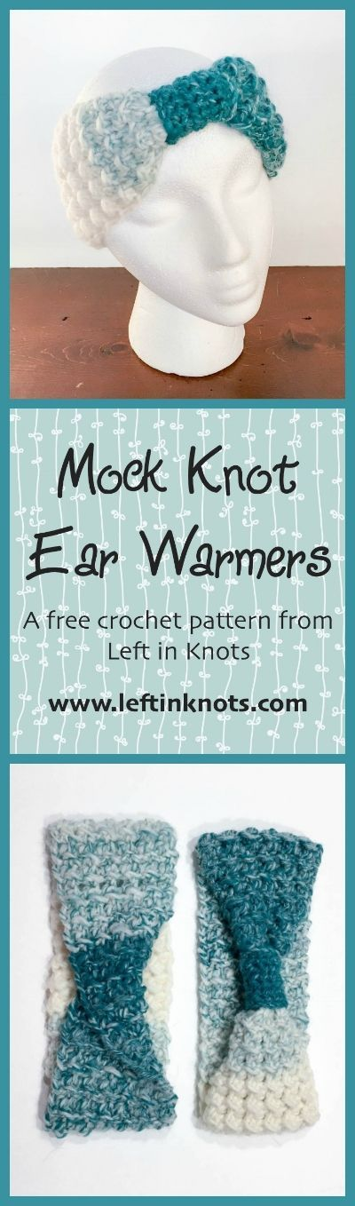 This free crochet pattern makes two different styles of a beautifully textured ear warmer. Made with @lionbrandyarn Scarfie, it is a light weight and lofty but oh so warm!  This pattern is part of my Seven Days of Scarfie patterns and is a perfect last minute gift to make.