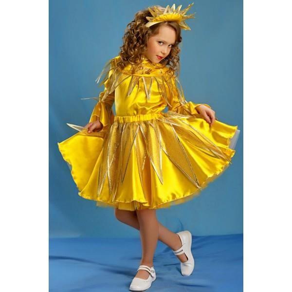 Детский новогодний костюм солнышко