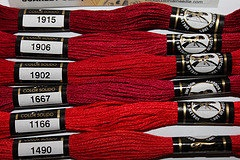 Embroidery Floss New Presencia Scarlet color by purrfectstitchers, $6.00