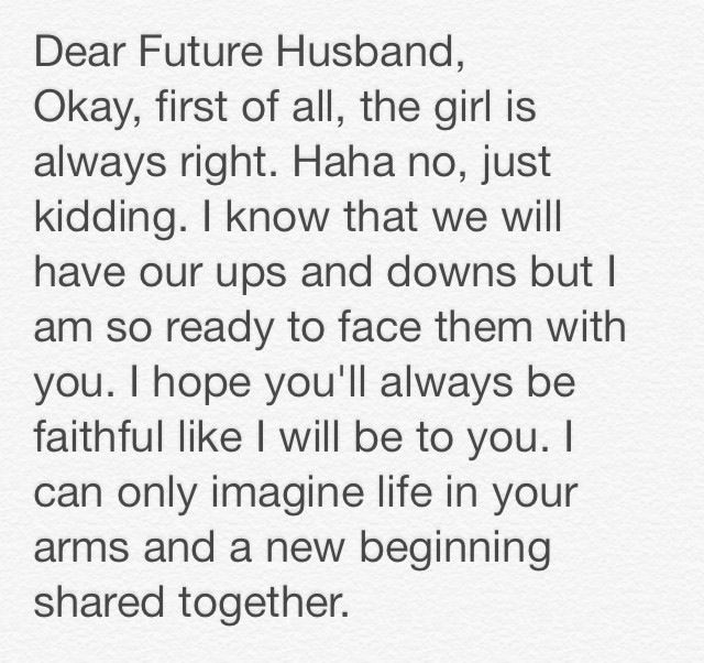 essay about my perfect future husband or wife Free essays on perfect future husband get help with your writing 1 through 30.