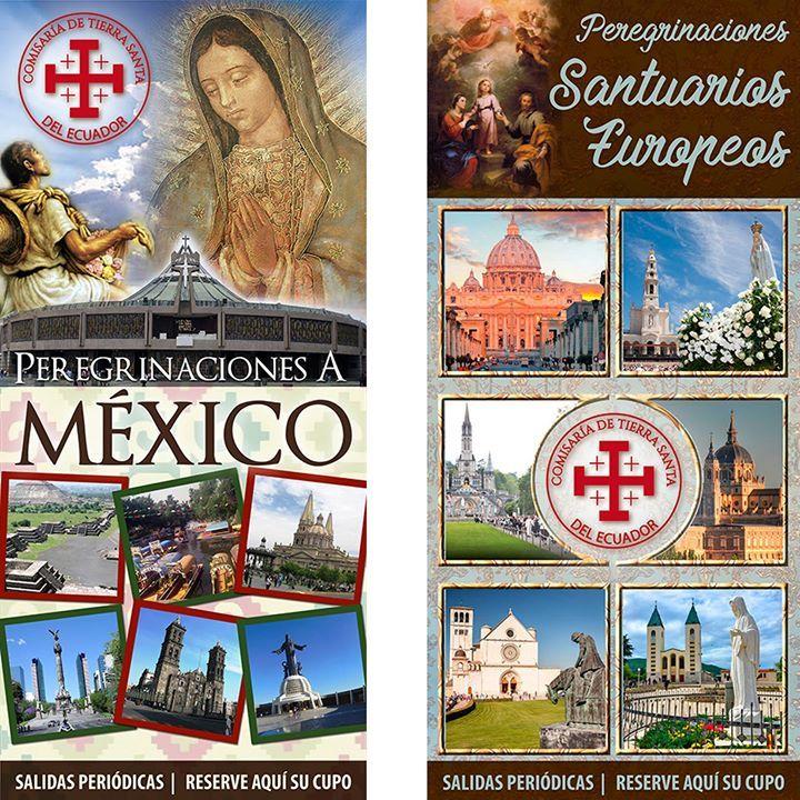 El destino y la fecha la escoge usted porque tenemos salidas periódicas en nuestras peregrinaciones con destinos a #Europa #TierraSanta #México. Informes 0990073222       peregrinaciones@galasam.com.ec Visítenos en www.galasamviajes.com