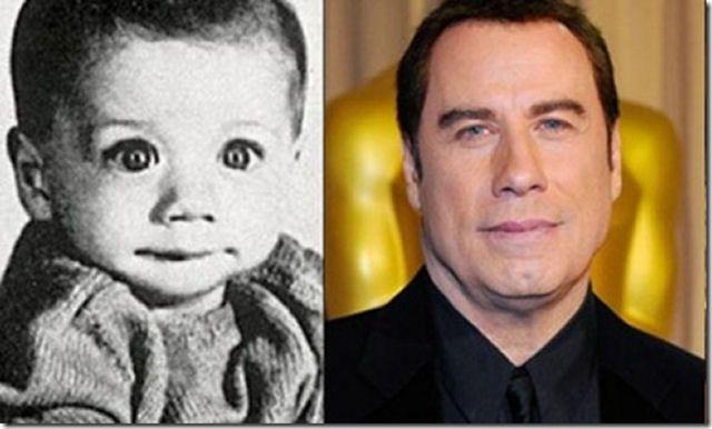 Famosos quando bebês John Travolta