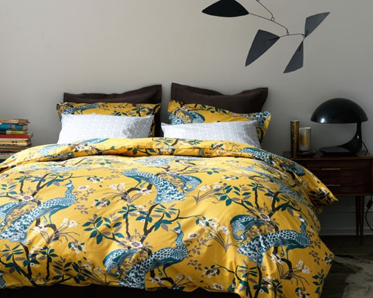 peacock coverlet