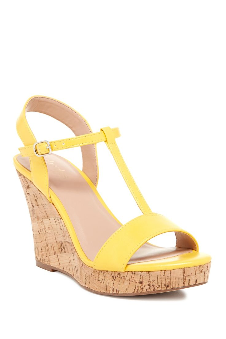 cute yellow wedges