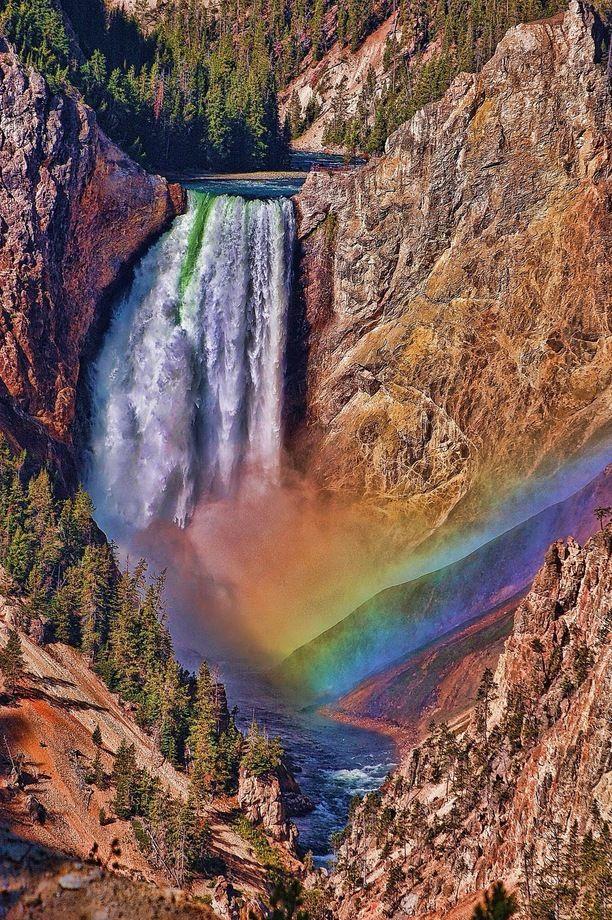 Artists Falls,  Yellowstone National Park, Teton County, Wyoming