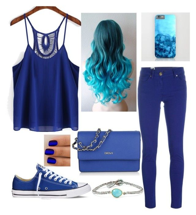 """""""blue"""" by fabulouschloe on Polyvore featuring M Missoni, Converse, DKNY and BROOKE GREGSON"""