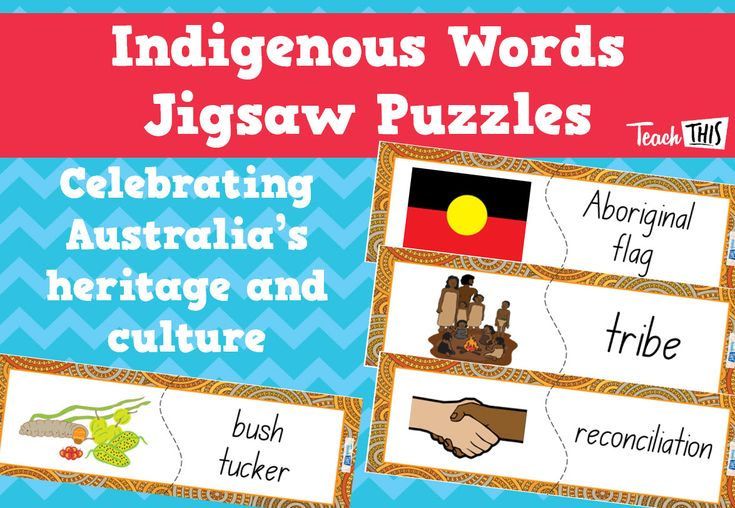 Indigenous Words Jigsaw Puzzles