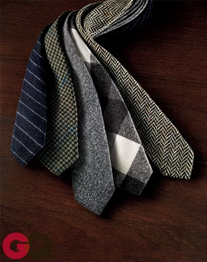 Wool ties, the blue striped and the herringbone are on my to be acquired list