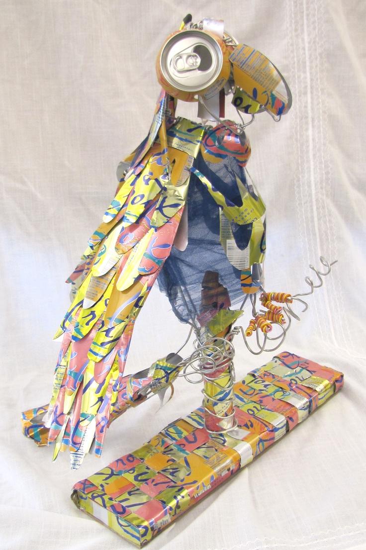 Crafts for highschool students - Toucan Recycled Cans High School Art Artist Catherine Babin Art Teacher Joy Schultz