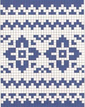 Жаккарды в сине-белой гамме