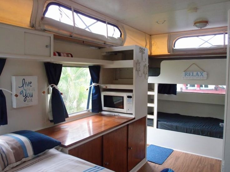24 best van conversions pop and hightops images on for Interior caravan designs