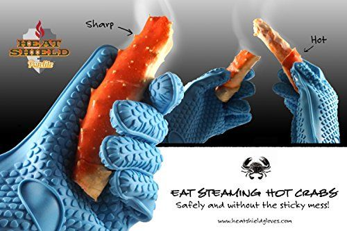 Heat Resistant Silicone Oven and Grilling Gloves