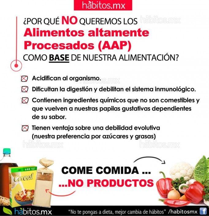 Alimentos altamente procesados!