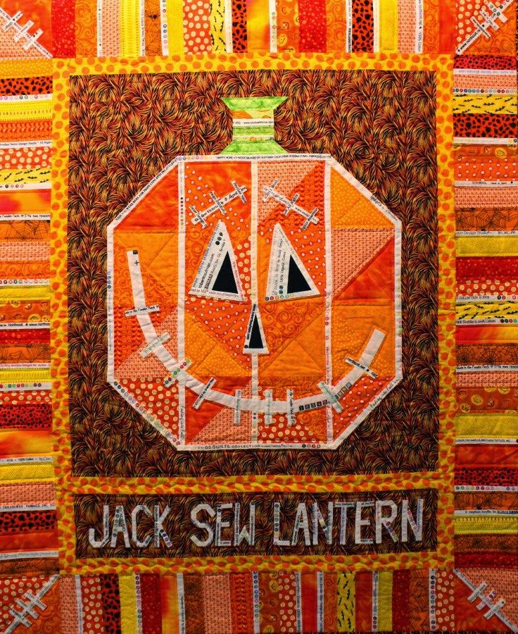 Jack Sew Lantern A Halloween Selvage Quilt The Q And The