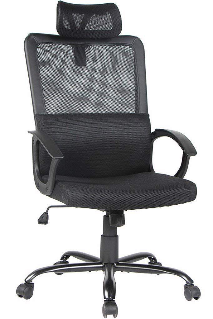 Smugdesk Ergonomic Office Chair Adjustable Headrest Mesh Office