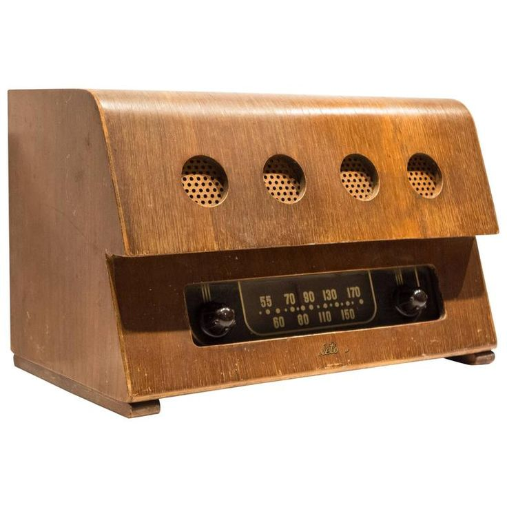 Rare Charles and Ray Eames Molded Plywood Radio | From a unique collection of antique and modern decorative objects at https://www.1stdibs.com/furniture/decorative-objects/decorative-objects/
