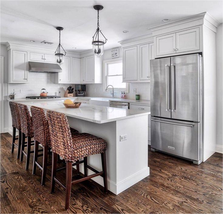 Small u shaped kitchen island narrow kitchen island ideas - Narrow kitchen island with seating ...