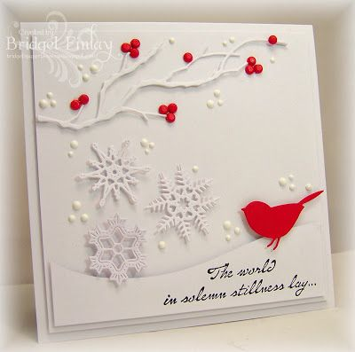 Bridget's Paper Blessings: Berries and Bird