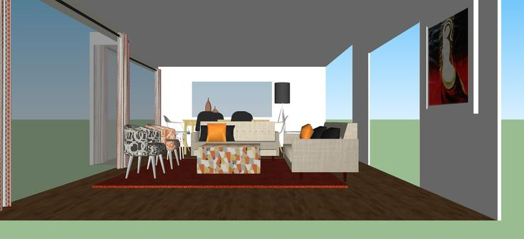 SketchUp Living and Dining space