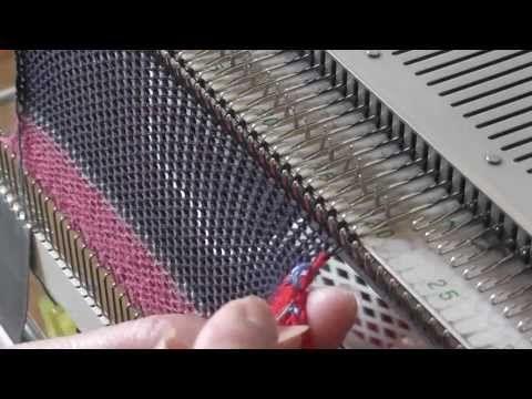 Соединение 2 полотен во время вязания