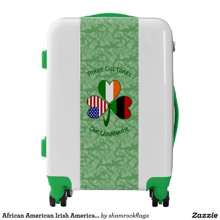 African American Irish American Shamrock Flag Luggage