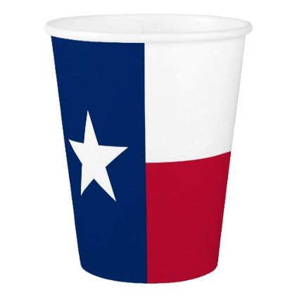 Patriotic paper cup with Texas Flag - home gifts ideas decor special unique custom individual customized individualized