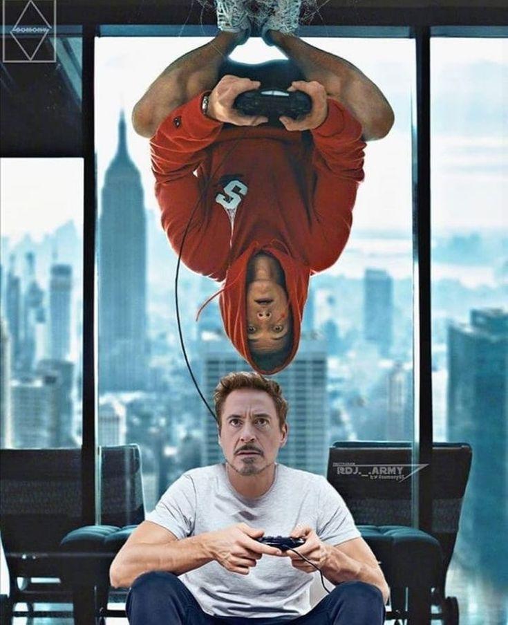 Tony Stark & Peter Parker – Tom Holland Fanclub 😌😌😌😌😌😌😌