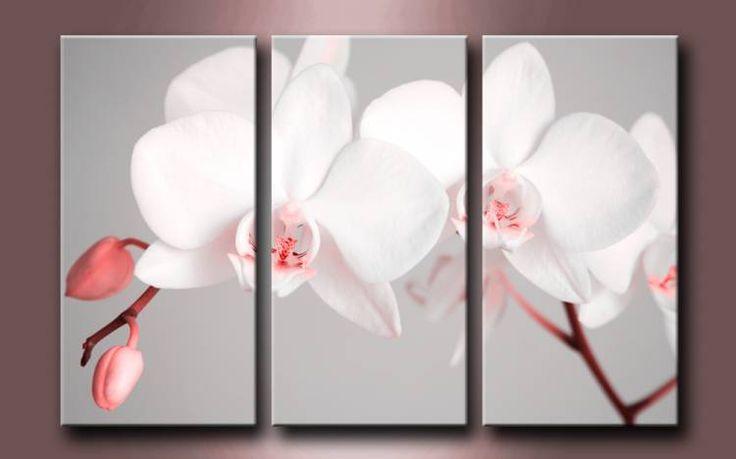 2561951 r cuadro triptico flores blancas cuadros for Cuadros tripticos online