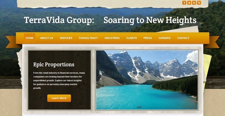 One of many web designs Passportal Creative will custom-tailor to suit your branding objectives.