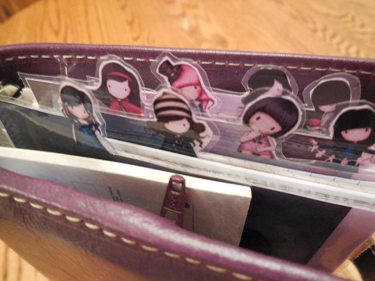 My Filofax Malden - personal size in purple with Gorjuss dividers