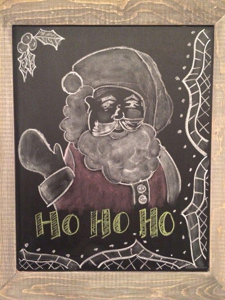 Christmas Santa Chalkboard Art Easy To Draw Christmas