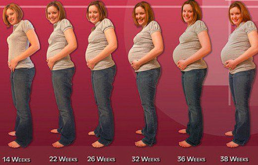 Most common signs and symptoms experienced during Pregnancy by women from week 1 to week 40.