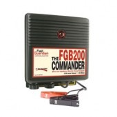 The Commander - 2 Joule Battery Energizer  Part Number: FGB200    The Field Guardian Commander battery energizer is a 2 joule model designed for professional applications. Electrifies up to 200 acres or 35 miles of multi-wire fencing. A great energizer for horses, cattle, pigs, sheep, exotics, deer and wildlife.